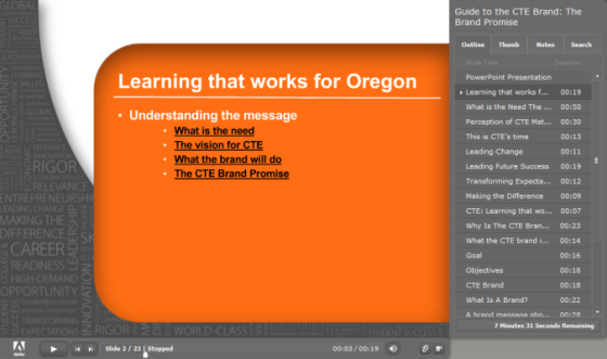 Oregon successfully launched a comprehensive brand and message training program