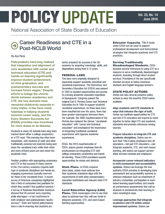 Career readiness and cte in a post nclb world advance cte career readiness and cte in a post nclb world malvernweather Image collections